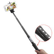 Bluetooth Wireless Selfie Stick with Shutter Control - Black
