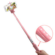 Bluetooth Wireless Selfie Stick with Shutter Control - Pink