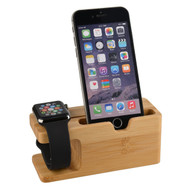 Bamboo Desktop Charging Dock Stand for Apple Watch