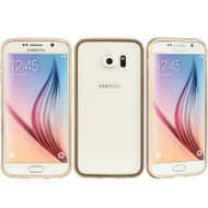 *SALE* Aluminum Transparent Bumper Shield Case for Samsung Galaxy S6 - Gold