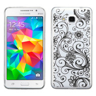*Sale* Floral Rubberized Crystal Case for Samsung Galaxy Grand Prime - Black