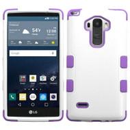 Military Grade Certified TUFF Hybrid Case for LG G Stylo / Vista 2 - White Purple