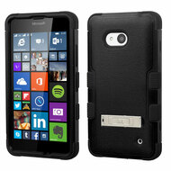 *SALE* Military Grade TUFF Hybrid Kickstand Case for Microsoft Lumia 640 - Black