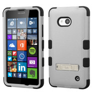 *SALE* Military Grade TUFF Hybrid Kickstand Case for Microsoft Lumia 640 - Grey