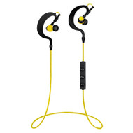 Bluetooth V4.1 Wireless Behind-The-Ear Sports Headphones - Black Yellow