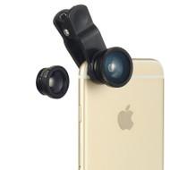 3-In-1 Universal Clip Lens - Black