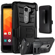 *Sale* Advanced Armor Hybrid Kickstand Case with Holster for LG Escape 2 / Logos / Spirit - Black