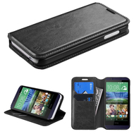 Book-Style Leather Folio Case for HTC Desire 512 / 510 - Black