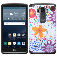 Hybrid Multi-Layer Armor Case for LG G Stylo / Vista 2 - Flower Bubble