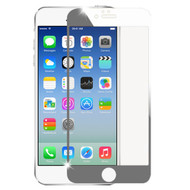 Premium Round Edge Electroplating Tempered Glass Screen Protector for iPhone 6 / 6S - Silver