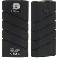 E Element Power Bank 5000 mAh Backup Battery USB Charger - Black