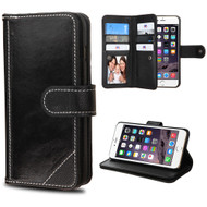 *SALE* Mybat D'Lux Genuine Leather Wallet Case for iPhone 6 Plus / 6S Plus - Black
