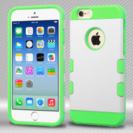 TUFF Trooper Dual Layer Hybrid Case for iPhone 6 - White Green