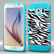 TUFF Trooper Dual Layer Hybrid Case for Samsung Galaxy S6 - Zebra Teal