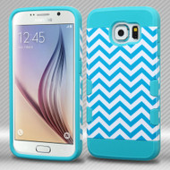 TUFF Trooper Dual Layer Hybrid Case for Samsung Galaxy S6 - Blue Wave