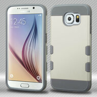 TUFF Trooper Dual Layer Hybrid Case for Samsung Galaxy S6 - White Grey