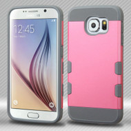 TUFF Trooper Dual Layer Hybrid Case for Samsung Galaxy S6 - Pink Grey