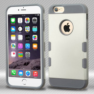 Military Grade Certified TUFF Trooper Dual Layer Hybrid Case for iPhone 6 Plus / 6S Plus - White Grey