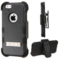 Military Grade TUFF Hybrid Kickstand Case with Holster for iPhone 6 / 6S - Black