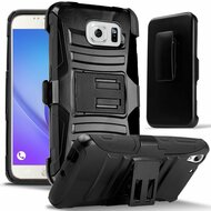 *SALE* Advanced Armor Hybrid Kickstand Case with Holster for Samsung Galaxy Note 5 - Black