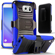 *SALE* Advanced Armor Hybrid Kickstand Case with Holster for Samsung Galaxy Note 5 - Black Blue