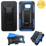 *SALE* Tough Armor Hybrid Kickstand Case with Holster for Samsung Galaxy Note 5 - Black Blue
