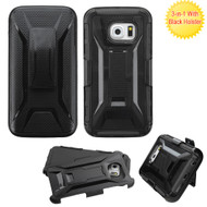 Tough Armor Hybrid Kickstand Case with Holster for Samsung Galaxy S6 Edge Plus - Black