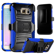 *SALE* Advanced Armor Hybrid Kickstand Case with Holster for Samsung Galaxy S6 Edge Plus - Black Blue
