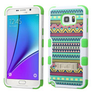 Military Grade Certified TUFF Image Hybrid Kickstand Case for Samsung Galaxy Note 5 - Tribal Sun