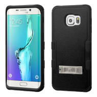 Military Grade Certified TUFF Hybrid Kickstand Case for Samsung Galaxy S6 Edge Plus - Black