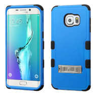 Military Grade Certified TUFF Hybrid Kickstand Case for Samsung Galaxy S6 Edge Plus - Blue