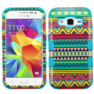 Military Grade Certified TUFF Image Hybrid Case for Samsung Galaxy Core Prime / Prevail LTE - Tribal Sun