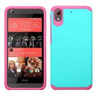 Hybrid Multi-Layer Armor Case for HTC Desire 650 / 626 / 555 / 550 / 530 - Teal Hot Pink