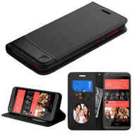 Premium Leather Wallet Book Case for HTC Desire 650 / 626 / 555 / 550 / 530 - Black