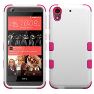 *SALE* Military Grade TUFF Hybrid Case for HTC Desire 650 / 626 / 555 / 550 / 530 - White Hot Pink