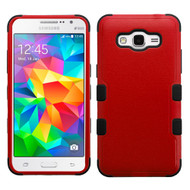 Military Grade Certified TUFF Hybrid Case for Samsung Galaxy Grand Prime - Red