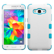 Military Grade Certified TUFF Hybrid Case for Samsung Galaxy Grand Prime - White Teal