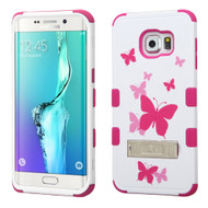 Military Grade Certified TUFF Image Hybrid Kickstand Case for Samsung Galaxy S6 Edge Plus - Butterfly Dancing