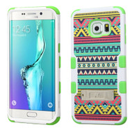 Military Grade Certified TUFF Image Hybrid Kickstand Case for Samsung Galaxy S6 Edge Plus - Tribal Sun