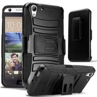 Advanced Armor Hybrid Kickstand Case with Holster for HTC Desire 650 / 626 / 555 / 550 / 530 - Black