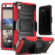 *SALE* Advanced Armor Hybrid Kickstand Case with Holster for HTC Desire 650 / 626 / 555 / 550 / 530 - Black Red