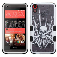 Military Grade Certified TUFF Image Hybrid Case for HTC Desire 650 / 626 / 555 / 550 / 530 - Sword and Skull