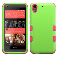 Military Grade Certified TUFF Hybrid Case for HTC Desire 650 / 626 / 555 / 550 / 530 - Green Hot Pink