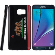 Graphic Rubberized Protective Gel Case for Samsung Galaxy Note 5 - California Black