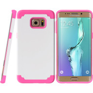 Fusion Multi-Layer Hybrid Case for Samsung Galaxy S6 Edge Plus - White Hot Pink