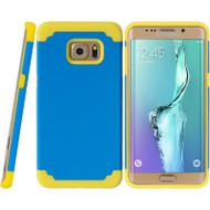 Fusion Multi-Layer Hybrid Case for Samsung Galaxy S6 Edge Plus - Blue Yellow