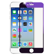 Premium Round Edge Electroplating Tempered Glass Screen Protector for iPhone 6 - Purple