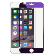 Premium Round Edge Electroplating Tempered Glass Screen Protector for iPhone 6 Plus - Purple