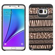 Hybrid Multi-Layer Armor Case for Samsung Galaxy Note 5 - Leopard Zebra