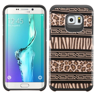 Hybrid Multi-Layer Armor Case for Samsung Galaxy S6 Edge Plus - Leopard Zebra